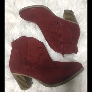 Red Fabric Booties